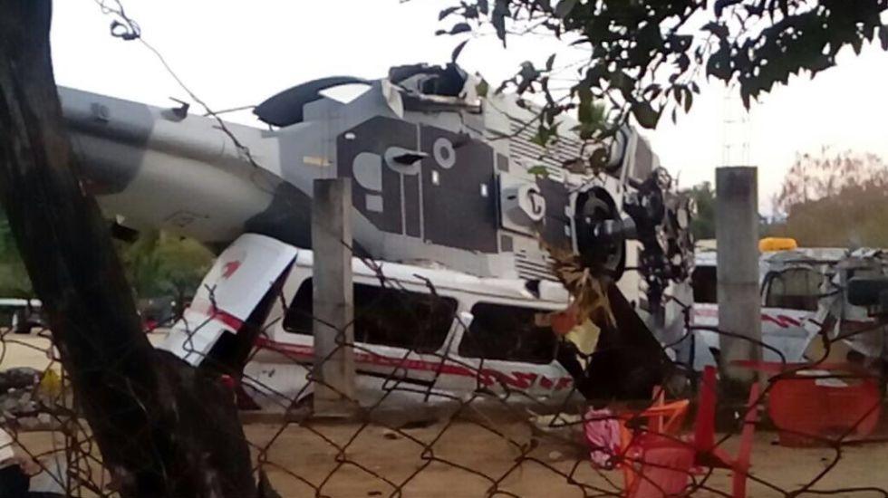 Velan a víctimas por caída de helicóptero en Oaxaca - Foto de @VictorMendozaL