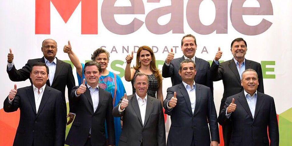 Osorio Chong, Beltrones y Paredes a la campaña de Meade