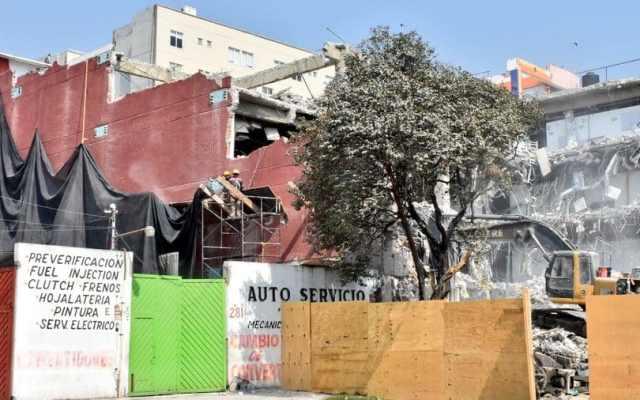 Concluye demolición de Puebla 277 en la Roma Norte