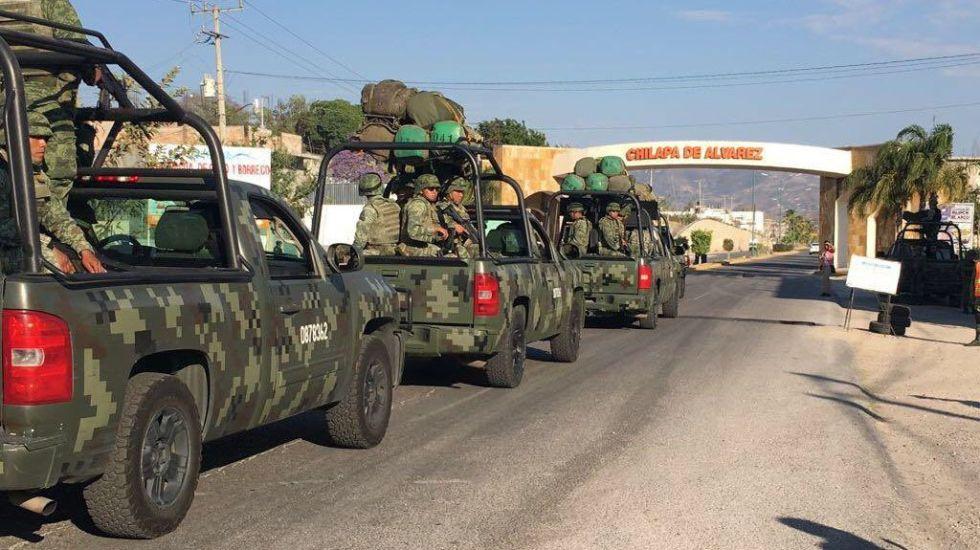 Arriban 500 soldados a Chilapa para reforzar seguridad - Foto de @HectorAstudillo