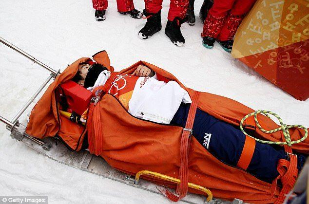 #Video Snowboarder japonés sufre aparatosa caída en Juegos de Invierno