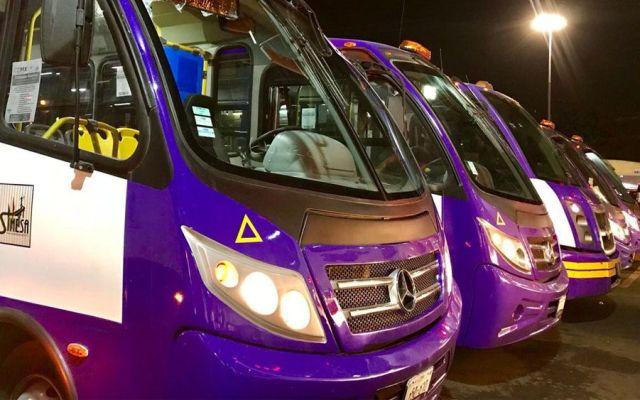 Reemplazan 214 microbuses de la ruta Chapultepec-Valle Dorado - Foto de @CDMX_Semovi