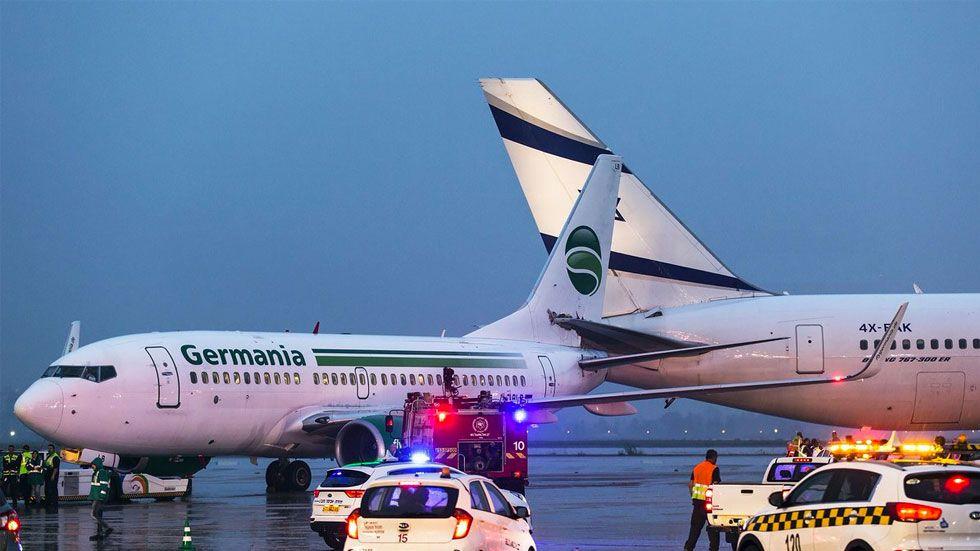 #Video Aviones chocan en aeropuerto de Israel - Foto de Jet Photos