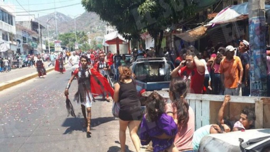 Balacera en el viacrucis de Acapulco - Foto de Internet