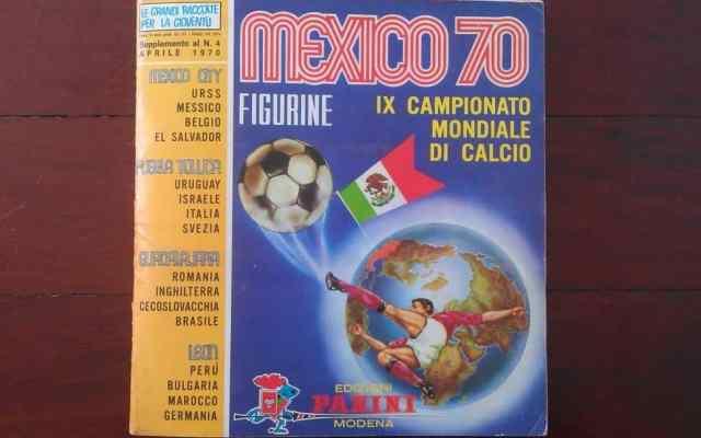 Las portadas del álbum Panini de México 1970 a Rusia 2018