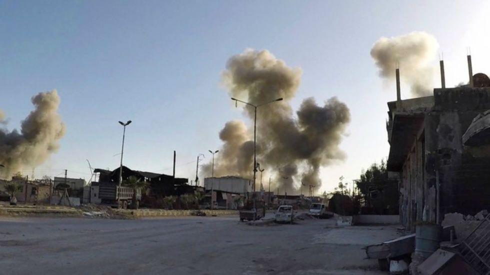 En alerta aérea por posibles ataques contra Siria con misiles - Foto de AP