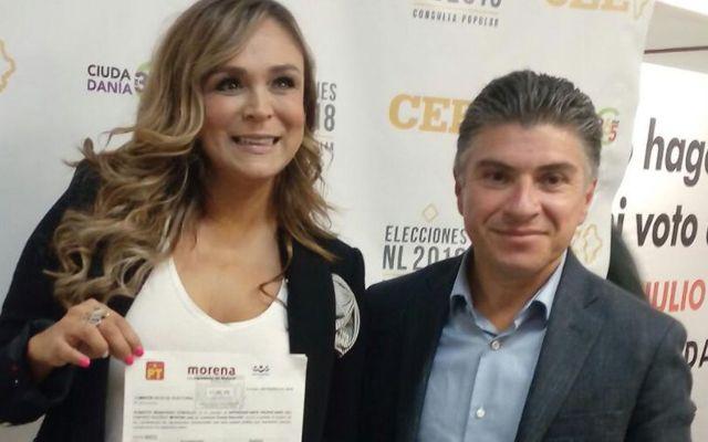 Brenda Bezares se registra como candidata a diputada en Nuevo León - Foto de Twitter