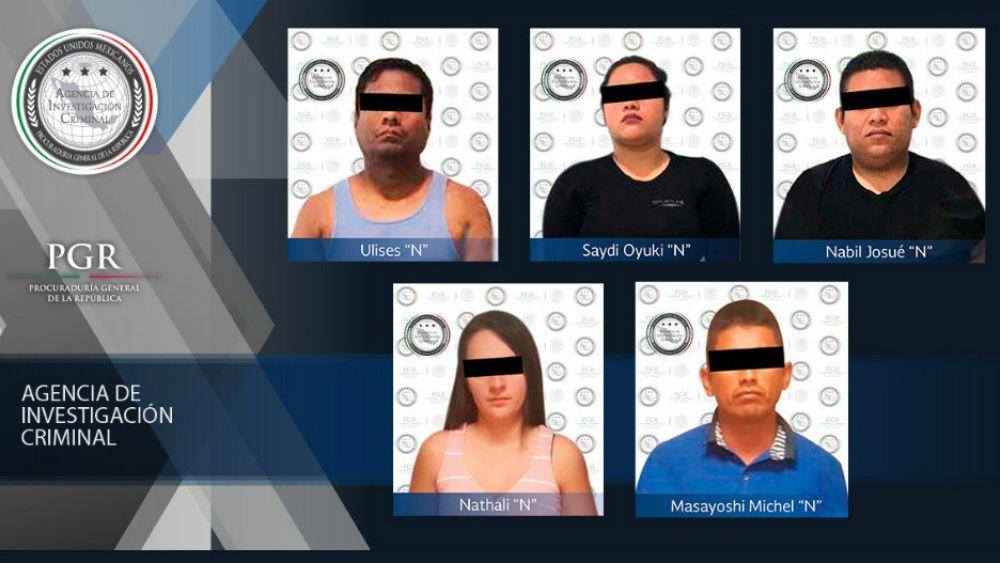 Detenidos a cinco presuntos secuestradores en Quintana Roo - Foto de PGR
