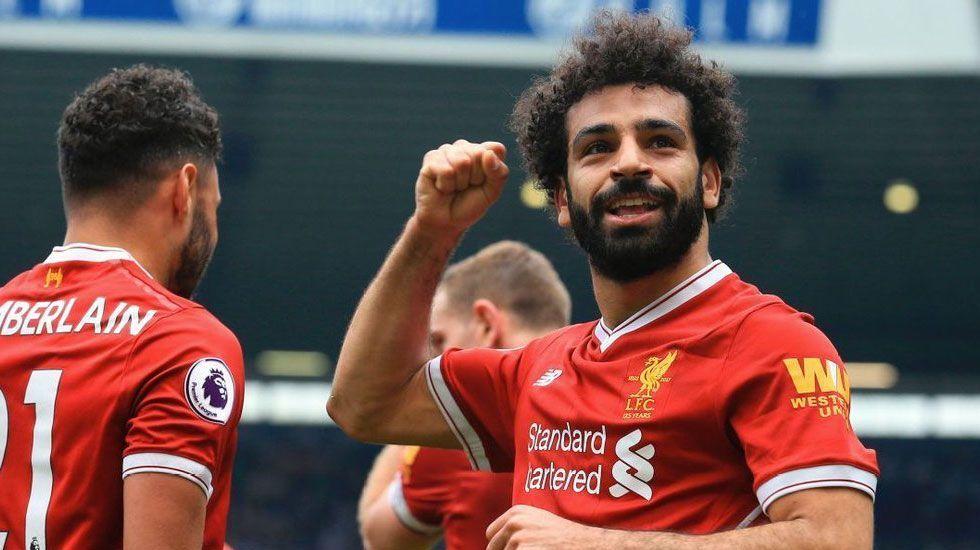 Salah alcanza a Cristiano Ronaldo, Suárez y Shearer en Inglaterra - Foto de Sqwaka