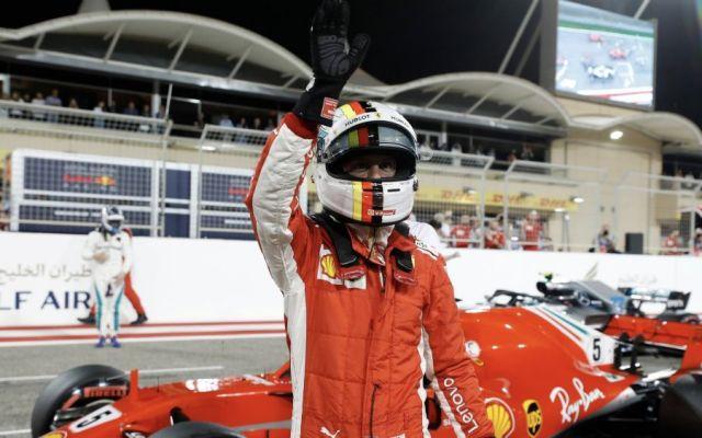 Vettel consigue la pole en Bahréin - Foto: @F1.