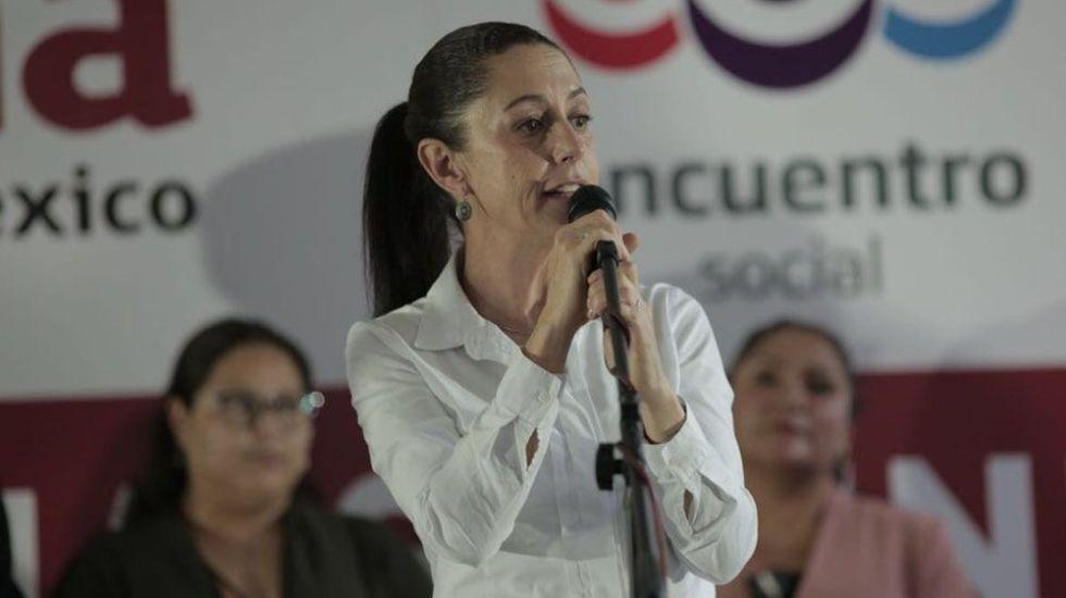 Sheinbaum suspende acto de campaña en Coyoacán - Foto de @Claudiashein