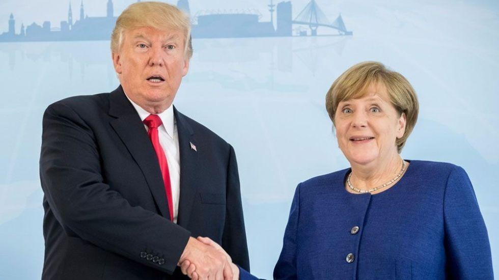 """""""Tenemos una muy buena relación"""": Trump sobre Angela Merkel - Foto de internet"""