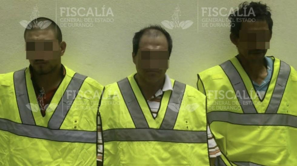 Capturan a tres presuntos responsables por la muerte de abogado en Durango - Foto de Fiscalía General del Estado de Durango