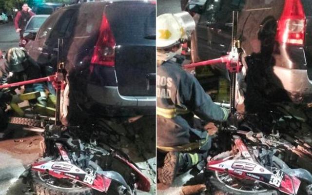Mujer persigue, atropella y mata a ladrones que le robaron el celular - Foto de La Nación