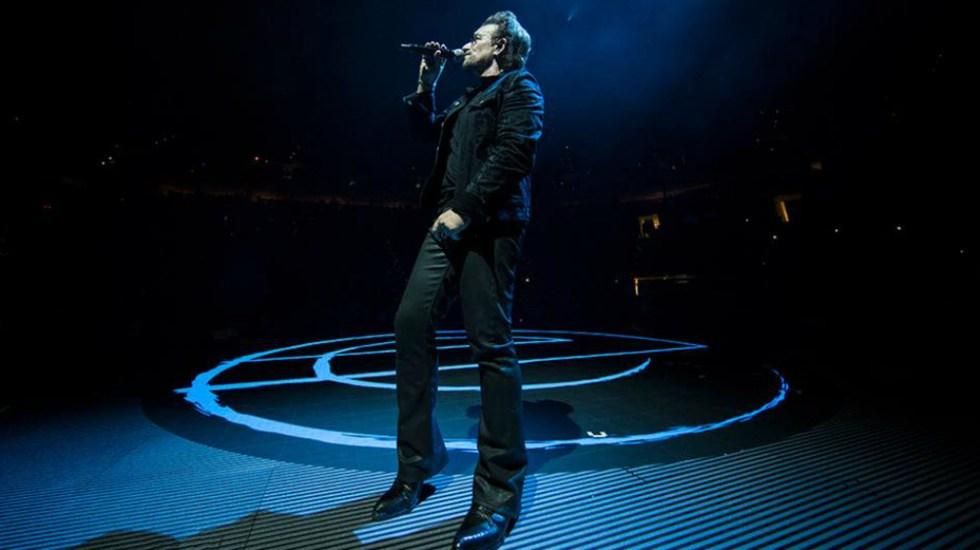 Bono sufre caída durante show de U2 en Chicago - Foto de U2