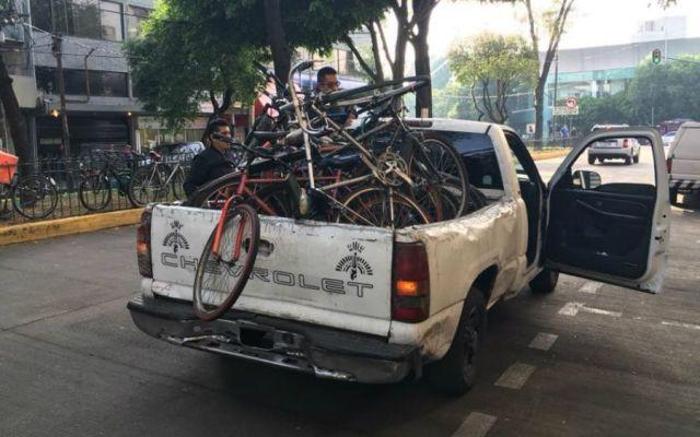 Denuncian que funcionarios de la Cuauhtémoc decomisaron bicicletas - Foto de Facebook Salvador López Polo