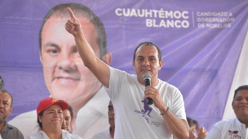 Cuauhtémoc Blanco gana las elecciones en Morelos - Foto de PES Morelos