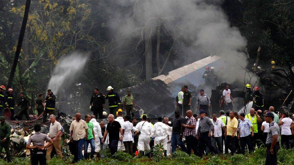 Muere otra sobreviviente del accidente aéreo en La Habana - Accidente de avión en Cuba. Foto de Granma
