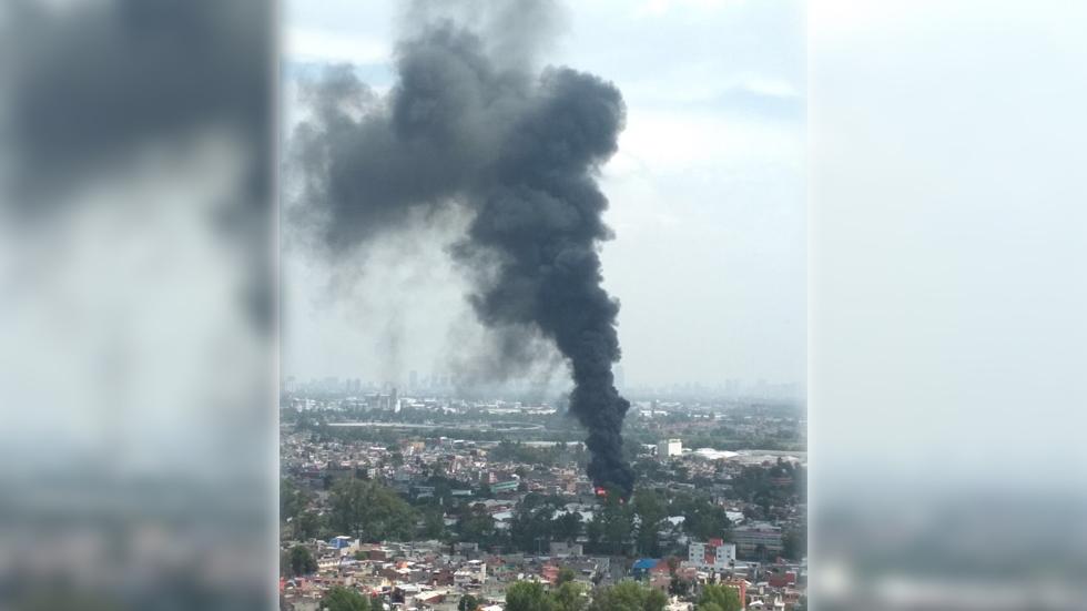 Fuerte incendio en San José de la Escalera en la GAM
