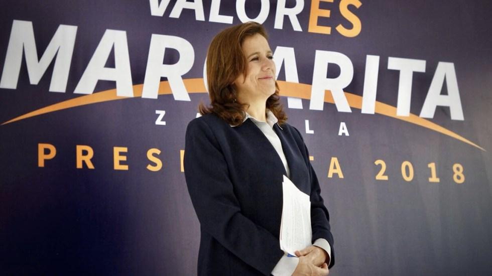 Renuncia, ni negociada ni para declinar por otro candidato: Zavala - Foto de @Mzavalagc