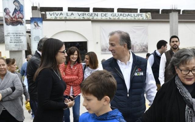 El candidato presidencial acudió junto a su esposa Juana a la ceremonia religiosa en la Parroquia de Nuestra Señora del Guadalupe del Río en Tijuana. Foto de Internet