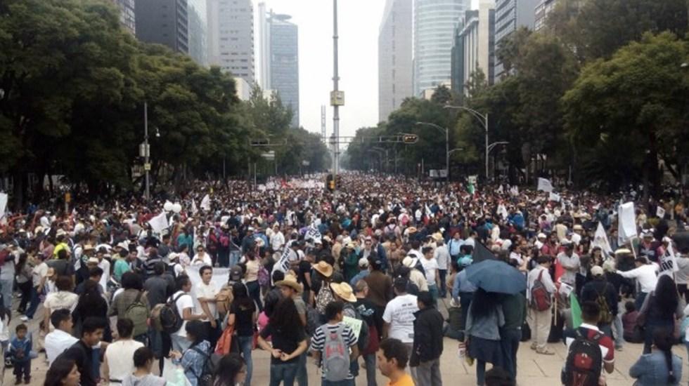 Las movilizaciones del domingo en Ciudad de México - movilizaciones ciudad de méxico