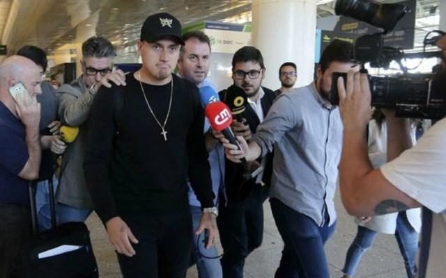 Nicolás Castillo llega a Lisboa para firmar con Benfica - Foto de @Portuball