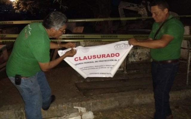 Clausuran playa Manzanillo por contaminación - Foto de Profepa