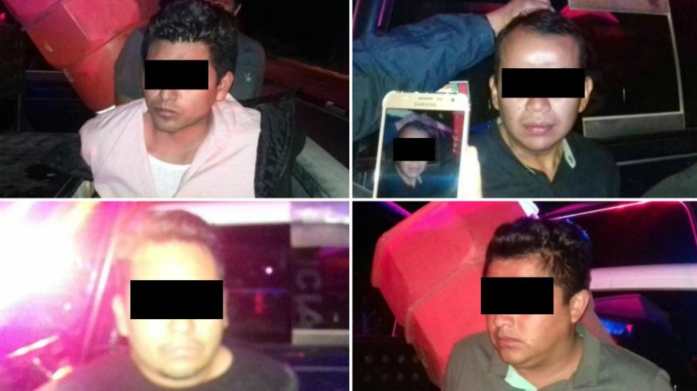 Detienen a tres regidores por presuntamente asaltar Oxxo en Hidalgo - Foto de @herreleo