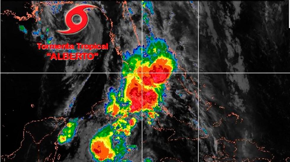 Tormenta tropical Alberto se aleja de costas mexicanas - Foto de @conagua_clima