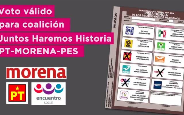 Válido marcar dos o más partidos de coalición en boleta: INE
