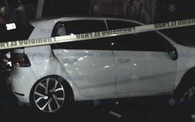 Adolescentes chocan auto que acababan de robar contra patrulla - Foto de @SS_Edomex