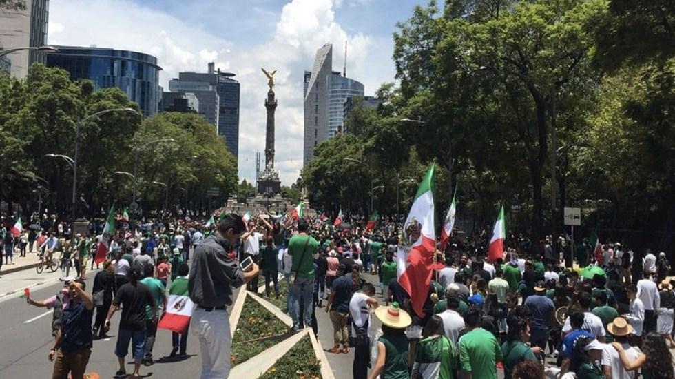 Alternativas viales por aficionados en Ángel de la Independencia - Foto de internet