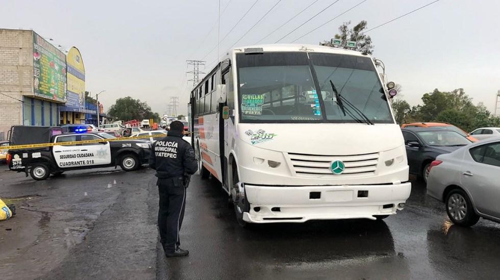 Asesinan a pasajero en atraco sobre la Texcoco-Lechería - Foto de Twitter