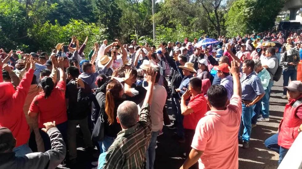 Las calles cerradas por las marchas de la CNTE - Foto de Quadratín