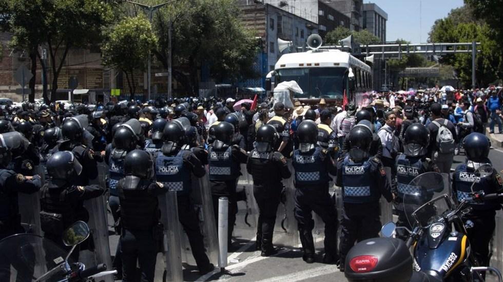 Protestas de la CNTE provocan pérdida de 36 mdp a comercios capitalinos - Foto de @FlorOlanGarcia