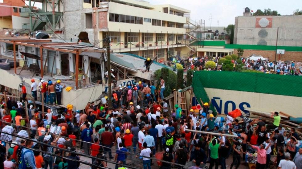 Derrumbe del Colegio Rébsamen fue por corrupción: abogados - Foto de Notimex