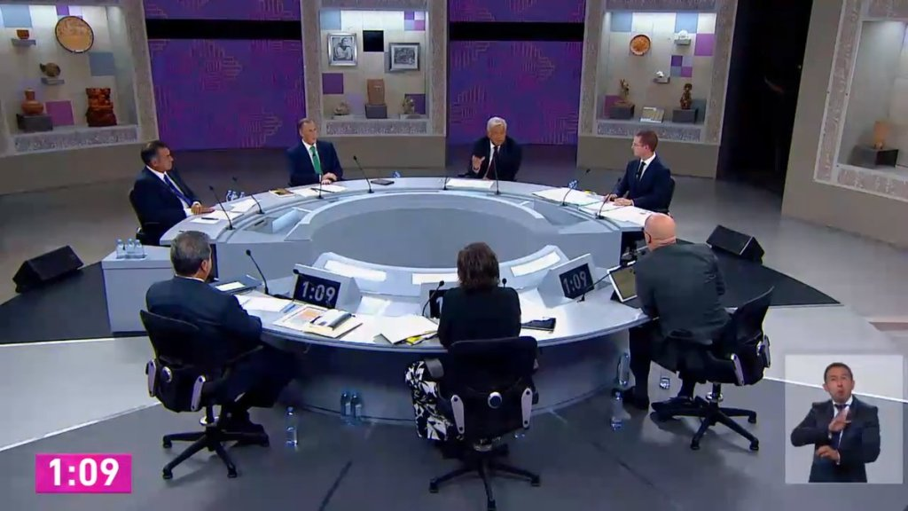 #Video AMLO evade dar mano a Anaya tras debate - Captura de Pantalla.