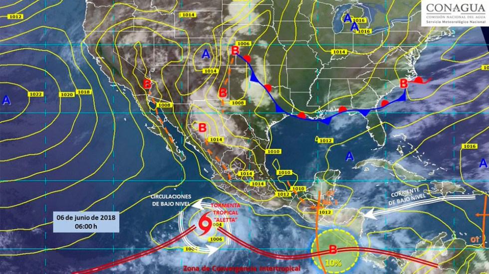 Alertan por depresión tropical frente a Colima y Michoacán - Foto de @conagua_clima