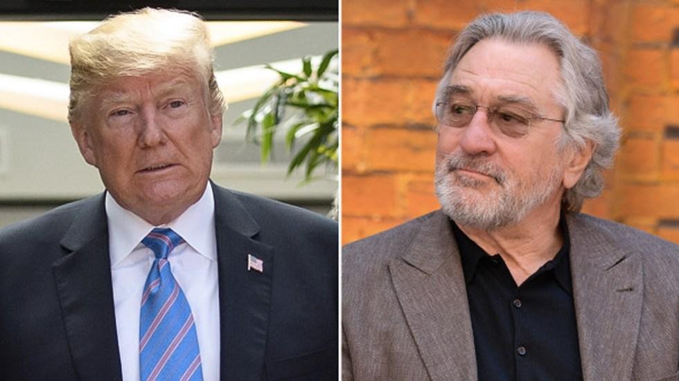 De Niro tiene bajo coeficiente intelectual: Donald Trump - robert de niro trump
