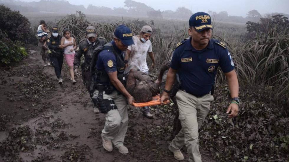 Trasladarán a México a siete heridos por erupción del Volcán de Fuego - Foto de Internet