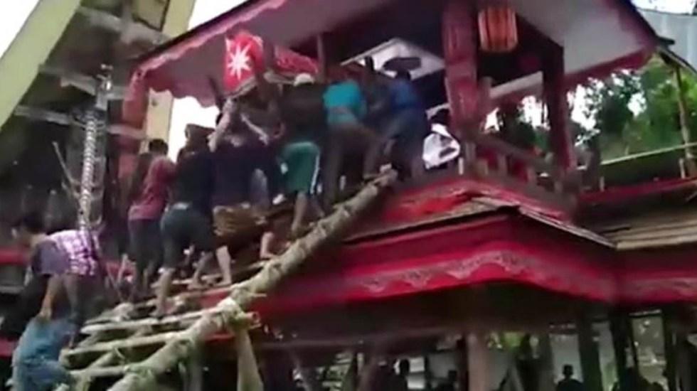#Video Hombre muere aplastado por el féretro de su madre - Foto Captura de pantalla