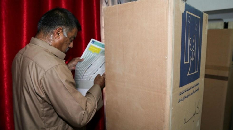 Incendio consume mayoría de votos de elecciones de Irak - Foto de EFE