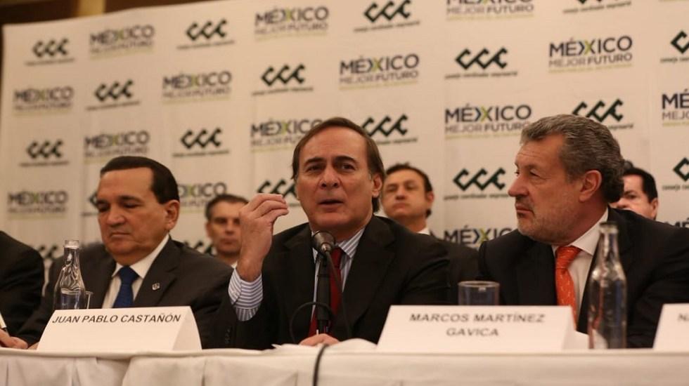 CCE: No es correcto hablar de un supuesto arreglo entre EPN y AMLO - Juan Pablo Castañón, líder del CCE. Foto de Milenio