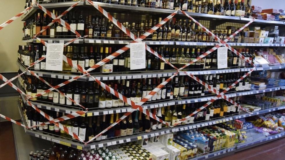 Las alcaldías que aplicarán 'Ley Seca' durante fiestas patrias - Zona de vinatería y licores clausurada pro 'Ley Seca'. Foto de Archivo