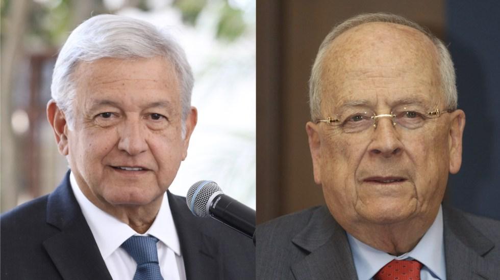 Platican y se abrazan López Obrador y Claudio X. González - Foto de internet