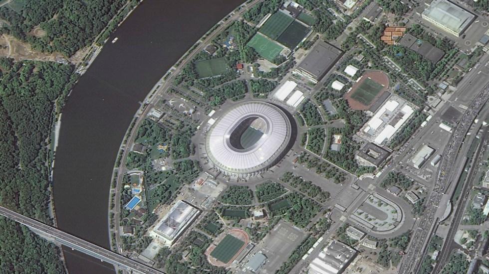 Los estadios de Rusia 2018 vistos desde la Estación Espacial - Luzhniki Stadium (Moscú). Foto de Roscocosmos