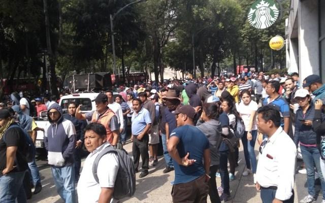 CNTE vuelve a bloquear Paseo de la Reforma - Foto de Internet
