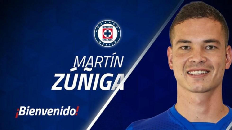 Cruz Azul oficializa contratación de Martín Zúñiga - Foto de @Cruz_Azul_FC