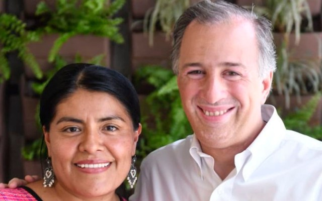 Meade agradece a panista Eufrosina Cruz por su decisión de votar por él - Eufrosina Cruz con José Antonio Meade. Foto de @JoseAMeadeK